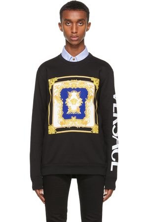 VERSACE Men Sweatshirts - Black Medusa Renaissance Sweatshirt