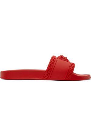 VERSACE Men Sandals - Red Palazzo Pool Slides