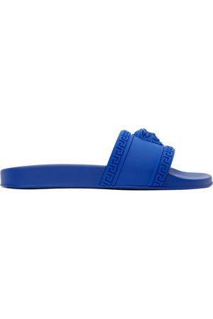 VERSACE Men Sandals - Blue Palazzo Pool Slides