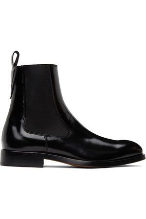 VERSACE Men Chelsea Boots - Black Polished Chelsea Boots