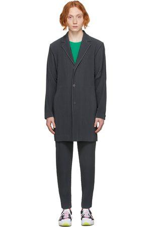 HOMME PLISSÉ ISSEY MIYAKE Men Coats - Grey Tailored Pleats 1 Coat