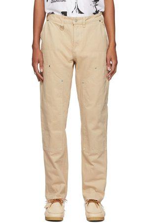 Brownstone Men Pants - Off- Denim Double-Knee Trousers