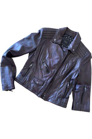 Guess Women Leather Jackets - Leather biker jacket
