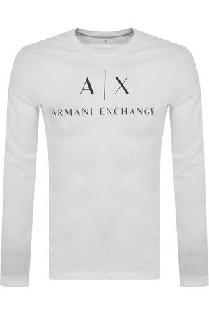Armani Men Long Sleeve - Long Sleeve Logo T Shirt