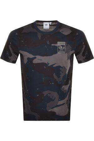 adidas Print T Shirt Navy