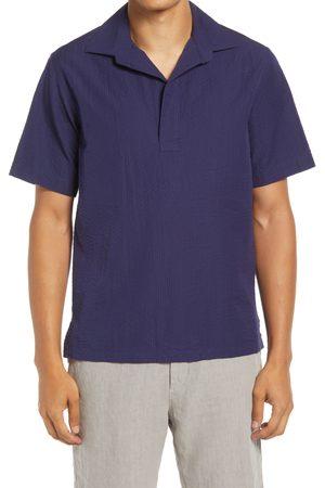 NN.07 Men's Brad Solid Short Sleeve Popover Shirt