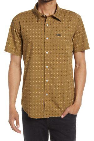 Brixton Men's Charter Print Short Sleeve Cotton Blend Button-Up Shirt
