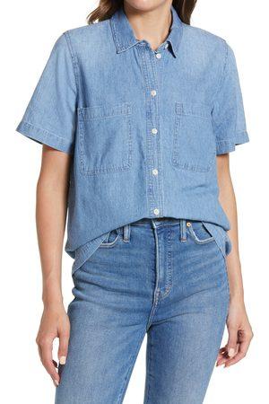Madewell Women Short sleeves - Women's Denim Short Sleeve Cotton Button-Up Shirt