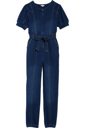HABITUAL Girls Jeans - Girl's Puff Sleeve Denim Jumpsuit