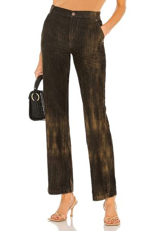 Free People Reese Pitched Straight Cord Pant in Black.