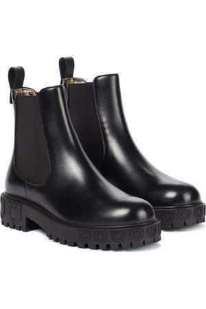 Salvatore Ferragamo Varsi leather Chelsea boots