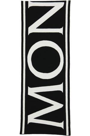 Moncler Logo wool scarf