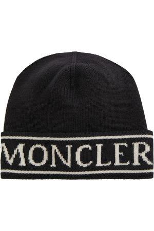 Moncler Beanies - Logo wool beanie