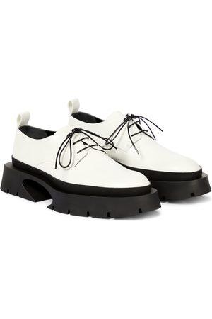 Jil Sander Leather Derby platform shoes