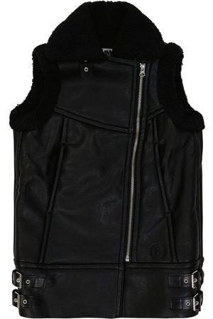 MM6 Maison Margiela Kids Faux shearling-lined biker vest