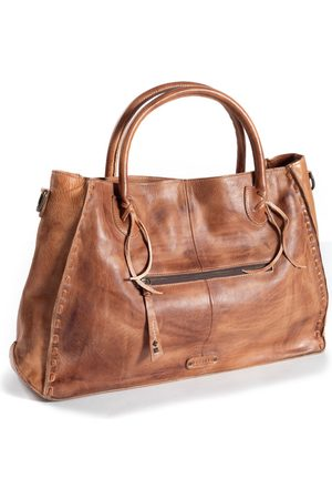 Peruvian Connection Distressed Leather Satchel