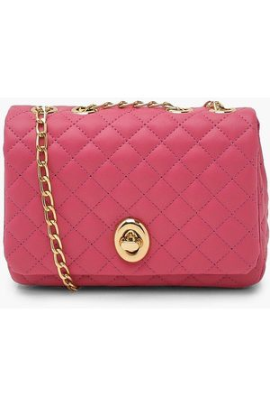 Boohoo Womens Quilted Flap Chain Cross Body Bag - - One Size