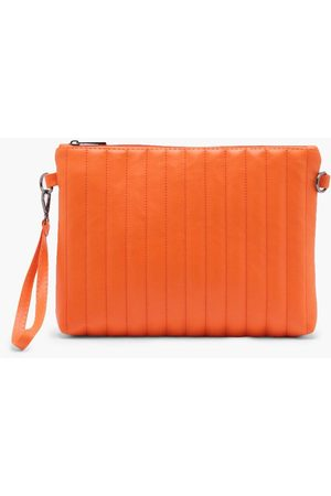 Boohoo Womens Oversized Ribbed Clutch Bag - - One Size