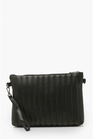 Boohoo Womens Oversized Ribbed Clutch Bag - One Size