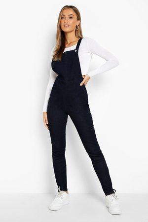 Boohoo Womens Slim Fit Denim Overalls - - 2