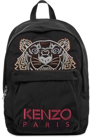 Kenzo Men Rucksacks - Tiger Embroidered Backpack