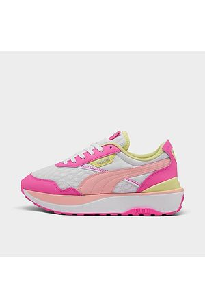 PUMA Girls Casual Shoes - Girls' Big Kids' Cruise Rider Casual Shoes in / / Size 4.0 Leather/Suede