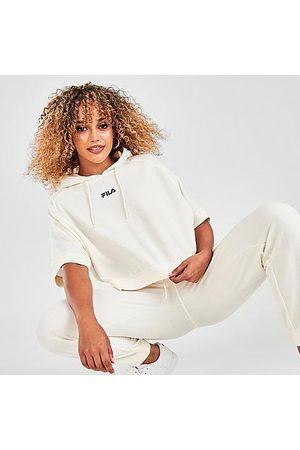 Fila Women Short sleeves - Women's Genoveffa Short Sleeve Hoodie in /Whisper Size X-Small 100% Cotton