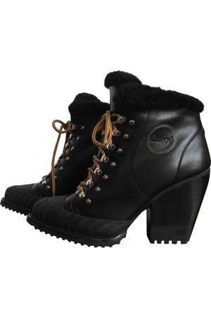 Chloé Leather snow boots