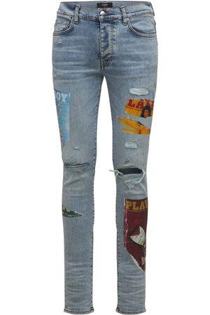 AMIRI Men Jeans - Playboy Magazine Cotton Denim Jeans