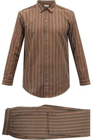 P. Le Moult Men Sweats - Striped Cotton Pyjamas - Mens - Stripe