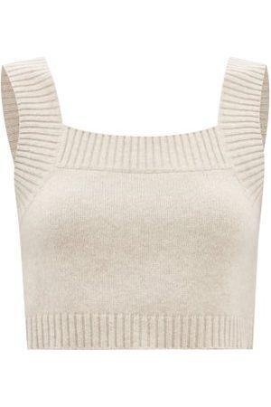 Lisa Yang Women Sweats - Barbara Cropped Cashmere Knit Top - Womens