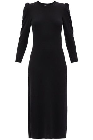 Frame Women Casual Dresses - Shirred-sleeved Recycled-cashmere Sweater Dress - Womens
