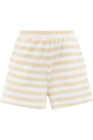 The Upside Makai Christina Striped Cotton-blend Terry Shorts - Womens - Stripe