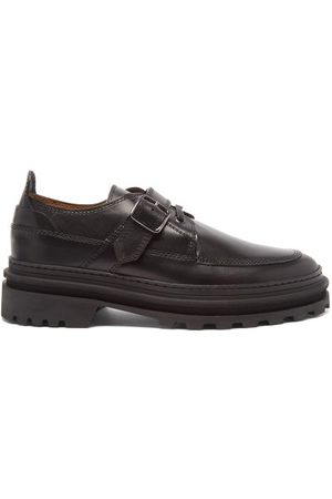 A.P.C. Women Formal Shoes - Alix Buckled Leather Derby Shoes - Womens
