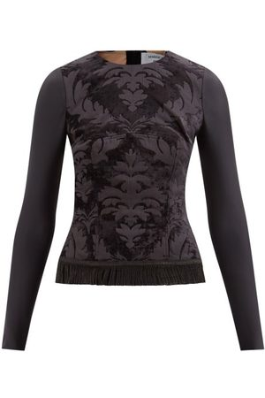 Marine Serre Floral-tapestry Cotton-blend Top - Womens