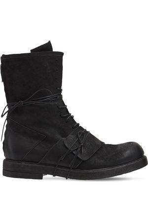 ERNESTO DOLANI Bruto Leather Nabuck Lace Up Boots