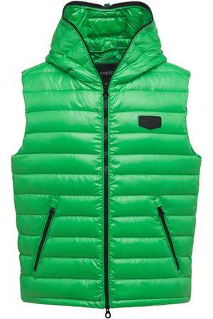 Duvetica Caserso Hooded Shiny Nylon Down Vest