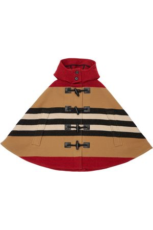 Burberry Girls Ponchos & Capes - Hooded Wool Cape
