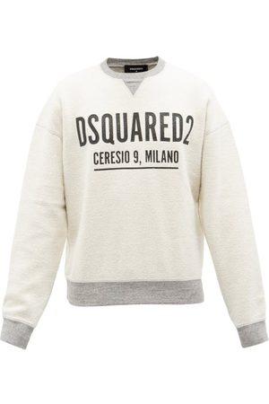Dsquared2 Men Sweatshirts - Mike Logo-print Cotton-fleece Sweatshirt - Mens - Grey