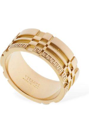 VERSACE Men Rings - Logo & Greek Motif Thick Ring