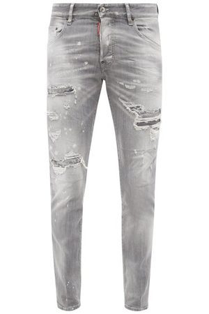 Dsquared2 Skater Distressed Skinny-leg Jeans - Mens - Grey