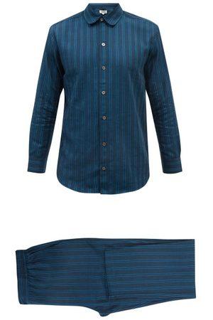P. Le Moult Men Sweats - Striped Brushed-cotton Pyjamas - Mens - Stripe
