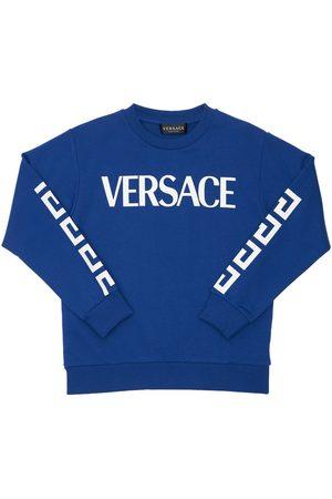 VERSACE Boys Sweatshirts - Printed Cotton Sweatshirt