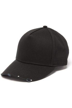 Dsquared2 Men Caps - Distressed Logo-embroidered Gabardine Baseball Cap - Mens