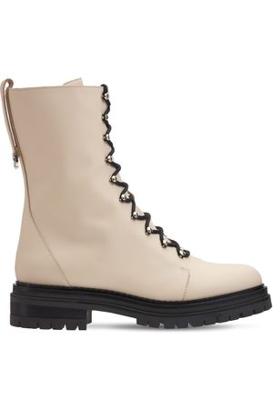 Sergio Rossi 30mm Joan Leather Hiking Boots