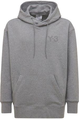 Y-3 Men Hoodies - Classic Logo Cotton Sweatshirt Hoodie