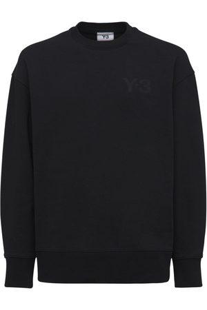 Y-3 Classic Logo Cotton Crewneck Sweatshirt