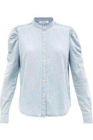 Frame Women Shirts - Frankie Cotton-blend Chambray Shirt - Womens - Light Denim