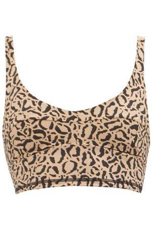 The Upside Candice Leopard-print Low-impact Sports Bra - Womens - Leopard