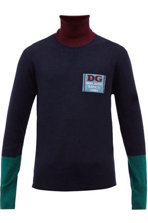 Dolce & Gabbana Roll-neck Colour-block Wool Sweater - Mens - Multi